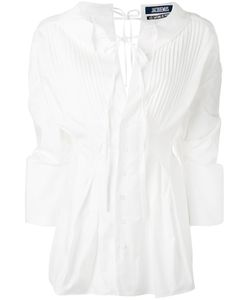 JACQUEMUS | Pleated Bib Blouse 34 Cotton