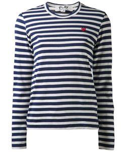 Comme des Gar ons Play | Comme Des Garçons Play Striped Long Sleeve T-Shirt Size Medium