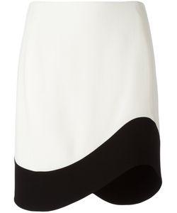 Mugler | Curved Hem Skirt 42 Cotton/Polyamide/Viscose/Polyester