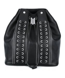 Diesel Black Gold | Studded Drawstring Backpack Calf Leather