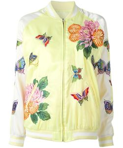 P.A.R.O.S.H. | Butterfly Decal Bomber Jacket Xs Polyester