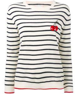 Chinti And Parker | Cashmere Cherry Breton Sweater