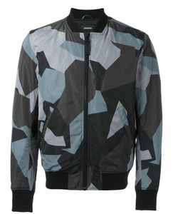 Diesel | Geometric Print Bomber Jacket Medium Polyester/Cotton