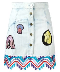 Peter Pilotto | Denim Guipare Lace Patch Skirt