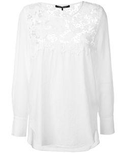 Luisa Cerano   Lace Detail Blouse 42 Cotton