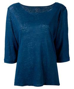 MAJESTIC FILATURES   Cropped Sleeve T-Shirt Size Ii
