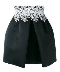Sara Battaglia | Leaf Detail Front Pleat Skirt