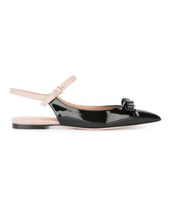 Red Valentino | Slingback Ballerinas 37.5 Patent Leather/Leather