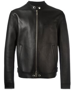 Dsquared2 | Lapel-Less Streamlined Biker Jacket 52 Leather/Viscose/Polyamide/Spandex/Elastane