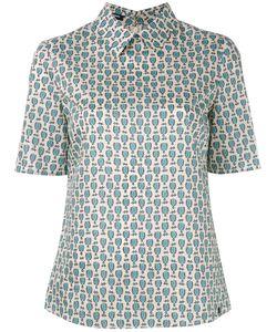 Jil Sander Navy | Geometric Print Shortsleeved Shirt Size