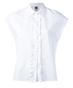 I'm Isola Marras | Frill Placket Shirt 40 Cotton