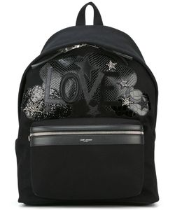 Saint Laurent | Love Patch City Backpack Calf Leather/Cotton