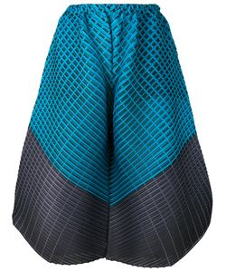PLEATS PLEASE BY ISSEY MIYAKE | Colour Block Wide-Leg Trousers