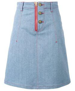 House Of Holland | X Lee Heart Applique Denim Skirt