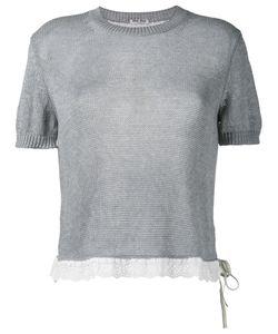 Miu Miu | Knitted Short Sleeve Top Size 44