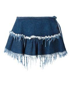Marques Almeida | Marquesalmeida Frayed Trim Pleat Skirt 6 Cotton