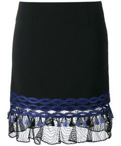 Jonathan Simkhai | Lace-Trimmed Mini Skirt 8 Viscose/Acetate/Spandex/Elastane/Polyester