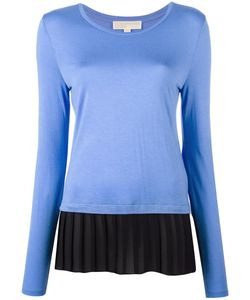 Michael Michael Kors | Pleated Detail Longsleeved T-Shirt Large
