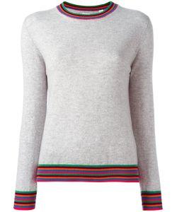 Chinti And Parker | Striped Cuff Jumper Small Cashmere
