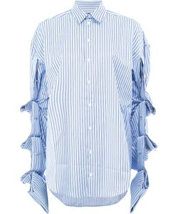Y / PROJECT   Draped Sleeves Striped Shirt