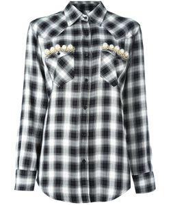 FORTE COUTURE | Embellished Pocket Shirt 44 Viscose