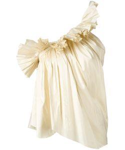 Marques Almeida | Marquesalmeida Ruffle One-Shoulder Top Small Silk