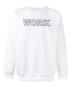 Andrea Crews   Work Print Sweatshirt Large Cotton/Polyester
