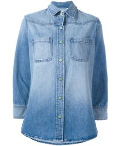 Sandrine Rose | Rear Patch Denim Shirt Medium Cotton