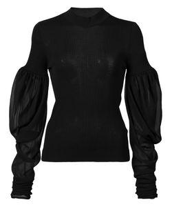 Vera Wang | Puff Sleeve Jumper Medium Wool/Silk