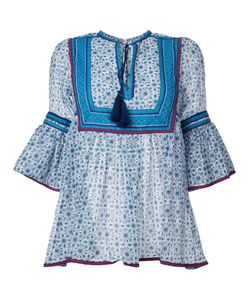 TALITHA | Ruffled Three-Quarters Sleeve Blouse Xs Silk/Cotton