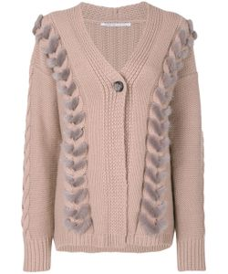 Agnona | Cable Knit Detail Cardigan