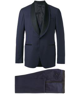 GABRIELE PASINI | Contrast Lapel Dinner Suit 50 Wool/Viscose/Cupro
