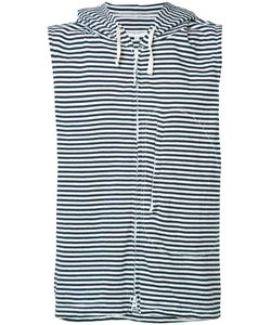 Engineered Garments | Striped Sleeveless Hoodie Size Medium