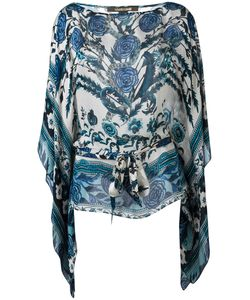 Roberto Cavalli | Carnation Print Batwing Top Size 44