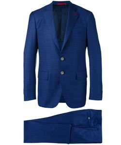 Isaia   Checked Dinner Suit 52 Wool/Cupro