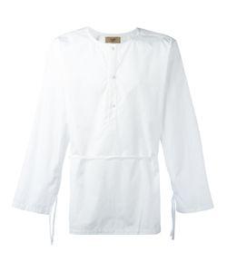 MAISON FLANEUR | Belted Collarless Shirt 48 Cotton