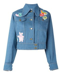 Olympia Le-Tan | Beaded Patch Denim Jacket 38 Cotton/Pvc