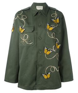 Night Market | Butterfly Military Jacket Cotton/Polyester/Glass/Metal