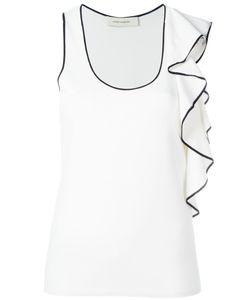 Cedric Charlier | Cédric Charlier Ruffled Detail Tank Top 42 Rayon/Polyester