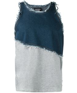 Andrea Crews | Frayed Denim Tank Large Cotton