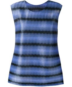 PLEATS PLEASE BY ISSEY MIYAKE   Striped Tank Top
