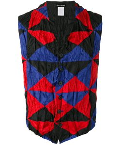ISSEY MIYAKE VINTAGE | Triangle Check Print Waistcoat Adult Unisex Medium