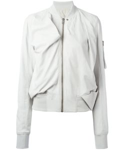 Rick Owens | Zip Leather Bomber Jacket 40 Leather/Cupro