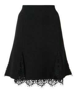 Oscar de la Renta | Lace Detail A-Line Skirt 6