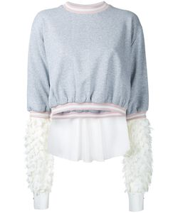 ANOUKI | Flower Lace Sleeves Sweatshirt