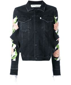 OFF-WHITE | Embroidered Denim Jacket