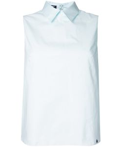 Jil Sander Navy | Sleeveless Blouse 40 Cotton/Spandex/Elastane