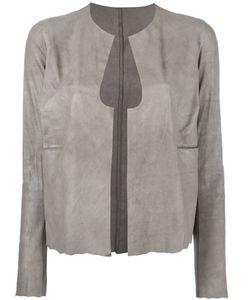 SALVATORE SANTORO   Cut-Out Detail Jacket 40 Leather