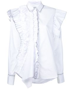 Preen By Thornton Bregazzi   Рубашка С Асимметричной Отделкой Из Рюшей