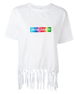 PALM ANGELS | Fringed T-Shirt Size Small